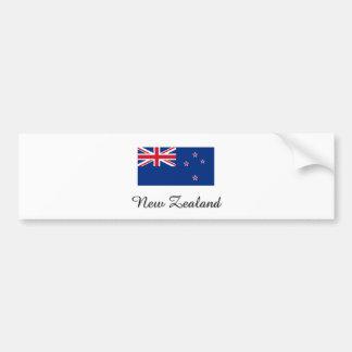 Diseño de la bandera de Nueva Zelanda Pegatina Para Coche