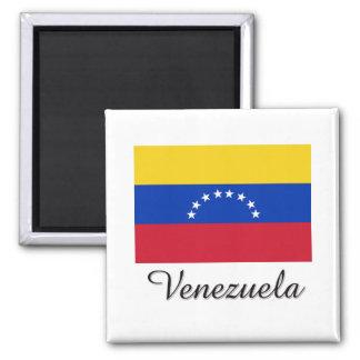 Diseño de la bandera de Venezuela Imán Cuadrado