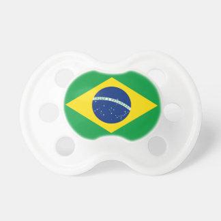 diseño de la bandera del Brasil Chupete