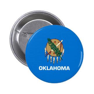 Diseño de la bandera del estado de Oklahoma Chapa Redonda De 5 Cm