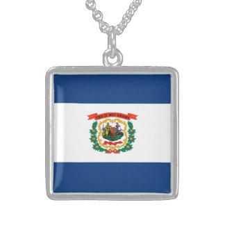 Diseño de la bandera del estado de Virginia Colgante Cuadrado