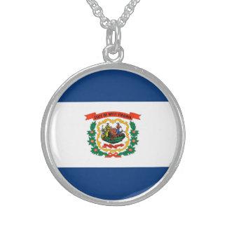 Diseño de la bandera del estado de Virginia Collares De Plata Esterlina
