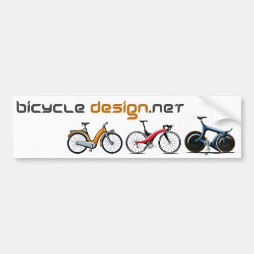 Diseño de la bicicleta pegatina de parachoque