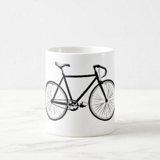 Diseño de la bicicleta taza básica blanca