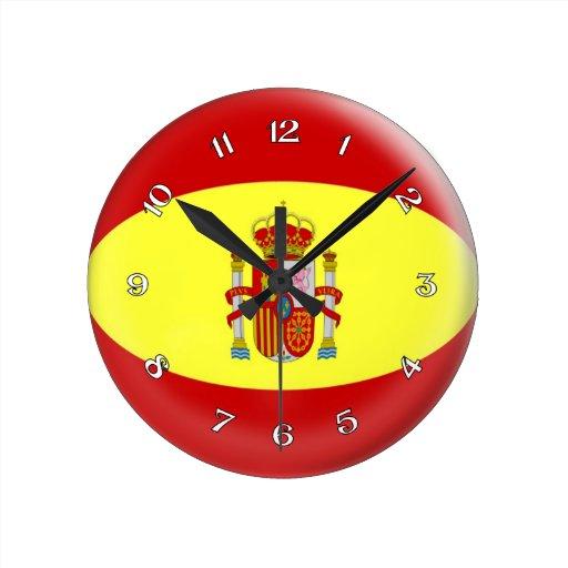 Diseño de la burbuja de la bandera de España del e Relojes