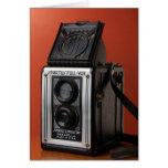 Diseño de la cámara del vintage tarjeta