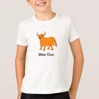 Diseño de la camiseta de la vaca de la montaña del
