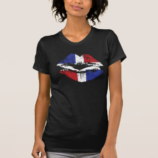 Diseño de la camiseta de los labios de la