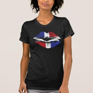 Diseño de la camiseta de los labios de la Repúblic