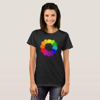 Diseño de la camiseta del artista de la rueda de