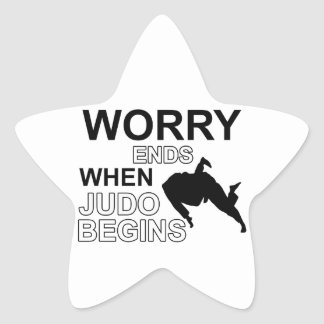 Diseño de la camiseta del judo calcomanías forma de estrella personalizadas