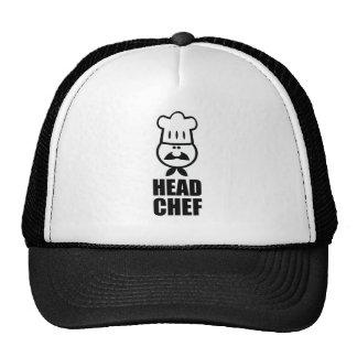 Diseño de la cara del chef y del negro del gorra