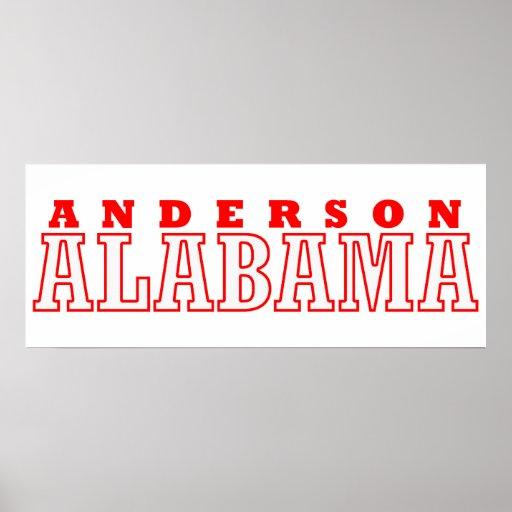 Diseño de la ciudad de Anderson, Alabama Impresiones