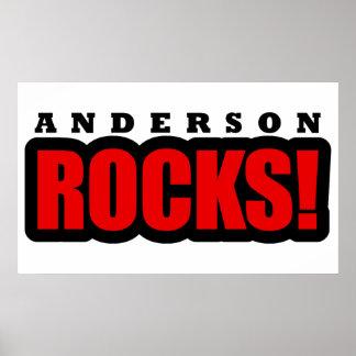 Diseño de la ciudad de Anderson Alabama Poster