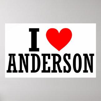 Diseño de la ciudad de Anderson Alabama Posters