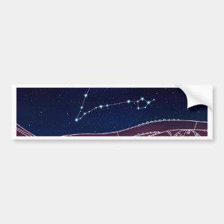 Diseño de la constelación de Piscis Pegatina Para Coche