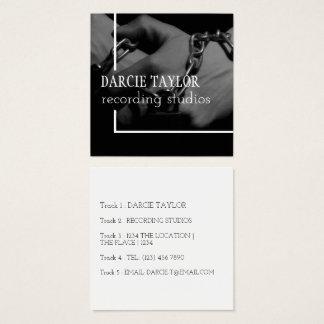 Diseño de la cubierta del álbum de registro su tarjeta de visita cuadrada