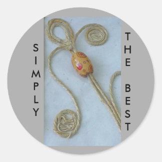 Diseño de la cuerda pegatina redonda