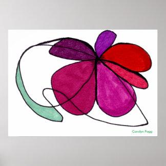 """""""Diseño de la danza de la flor"""" de Carolyn Fagg Póster"""