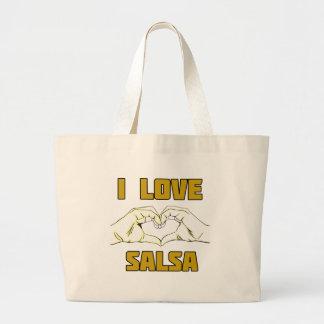 diseño de la danza de la salsa bolsa de tela grande