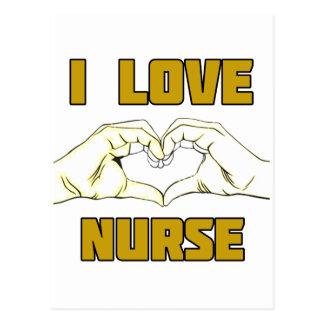 diseño de la enfermera postal