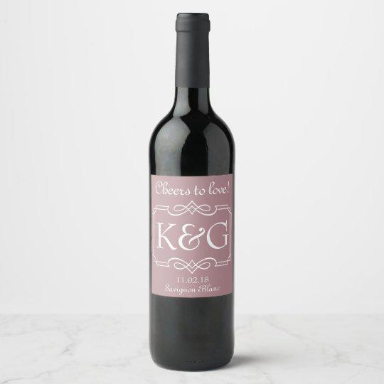Diseño de la etiqueta del vino del monograma para