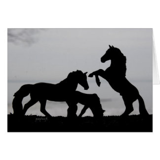 Diseño de la familia del caballo - tarjeta del día