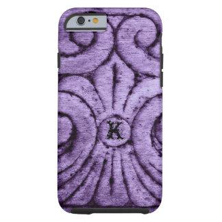 Diseño de la flor de lis (púrpura) funda de iPhone 6 tough