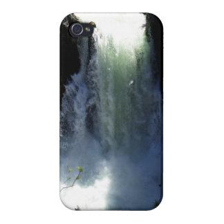 Diseño de la foto de la naturaleza del agua blanca iPhone 4 protector