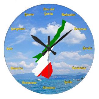 Diseño de la foto de Tricolore de la bandera de Reloj Redondo Grande