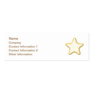 Diseño de la galleta de la estrella tarjetas de visita mini