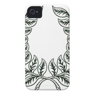 Diseño de la guirnalda del laurel carcasa para iPhone 4 de Case-Mate