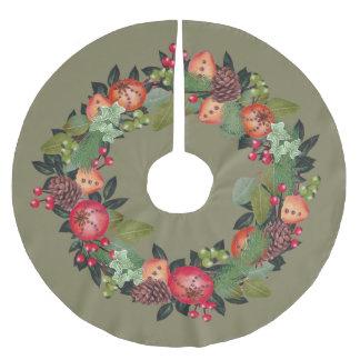 Diseño de la guirnalda del navidad - falda del falda de árbol de navidad de poliéster