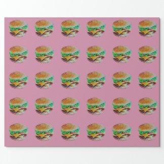 diseño de la hamburguesa, pintura original papel de regalo