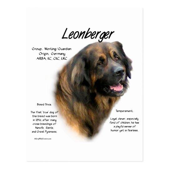 Diseño de la historia de Leonberger Postal