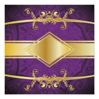 Diseño de la impresión del modelo de la púrpura