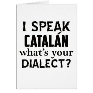 Diseño de la lengua de CATALÁN Tarjeta De Felicitación