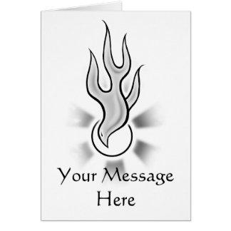 Diseño de la llama de la paloma del Espíritu Santo Tarjeta