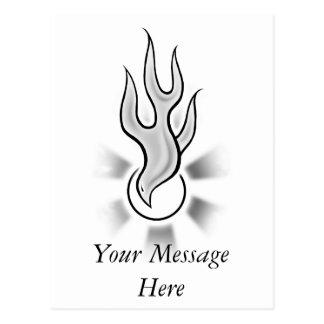 Diseño de la llama de la paloma del Espíritu Santo Tarjetas Postales