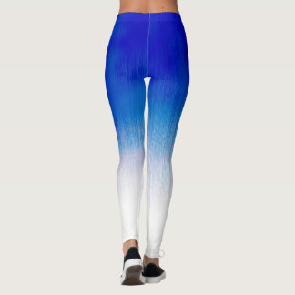 Diseño de la lluvia del hielo del azul real que leggings