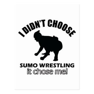 diseño de la lucha del sumo postal