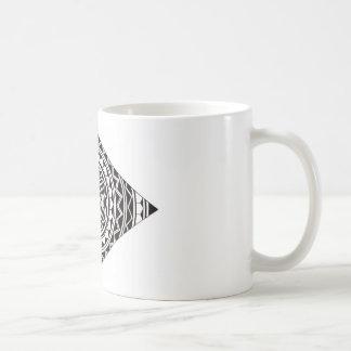 Diseño de la mandala del diamante taza de café