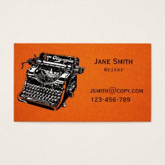 Diseño de la máquina de escribir del escritor free tarjeta de negocios