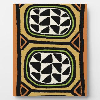 Diseño de la materia textil de Kuba del africano Placa Expositora