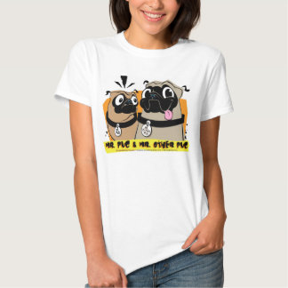 DISEÑO de la MOD, Sr. Pug y Sr. La otra camiseta