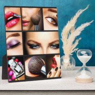 Diseño de la moda del maquillaje del lápiz labial placa expositora