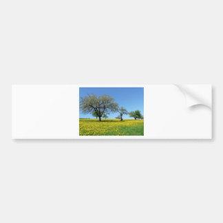 Diseño de la naturaleza del prado del árbol pegatina para coche