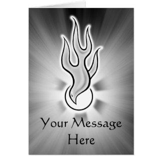 Diseño de la paloma de la llama del Espíritu Santo Felicitacion