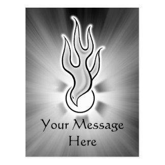 Diseño de la paloma de la llama del Espíritu Santo Tarjetas Postales