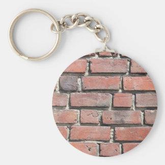 Diseño de la pared de piedra del ladrillo llavero personalizado